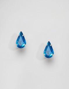 Серьги-гвоздики с кристаллами Swarovski Krystal - Фиолетовый