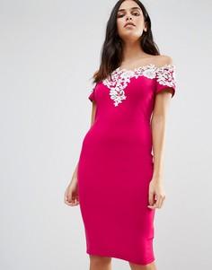 Платье с аппликацией Paper Dolls - Розовый