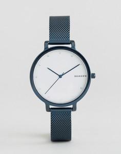Часы с сетчатым ремешком Skagen IP Hagen - Синий