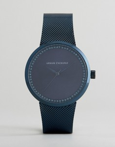 Синие часы с ионным покрытием Armani Exchange Liv - Синий