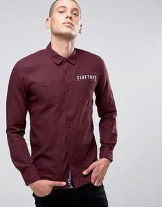 Фланелевая рубашка с начесом Firetrap - Красный