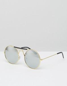 Круглые солнцезащитные очки 7X - Золотой