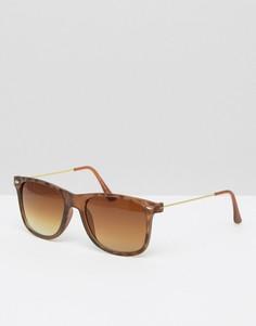 Стильные солнцезащитные очки 7X - Коричневый