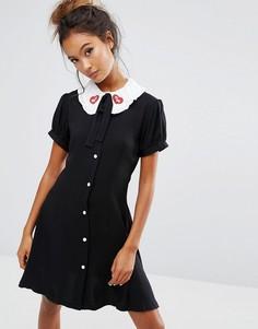 Платье с принтом 101 далматинец Lazy Oaf X Disney - Черный
