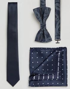 Бабочка, галстук и нагрудный платок Jack & Jones - Темно-синий