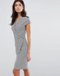 Жаккардовое платье-футляр Liquorish - Серый