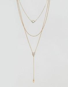 Ожерелье-лассо DesignB London - Золотой