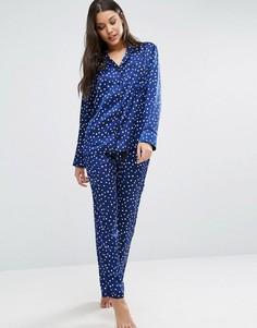 Пижама со звездным принтом Bluebella Celeste - Синий