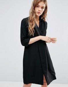 Платье с V-образным вырезом Closet - Черный