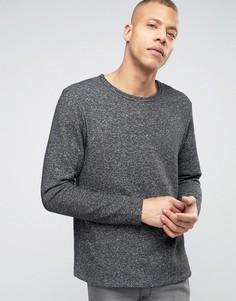 Трикотажный меланжевый свитшот в крапинку Produkt - Черный