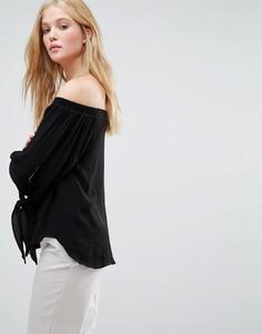 Блузка с рукавами на завязках Gestuz Emma - Черный