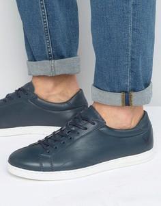 Кожаные кроссовки Lyle & Scott Findon - Синий