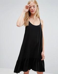 Платье на бретельках с заниженной талией Gestuz Vea - Черный