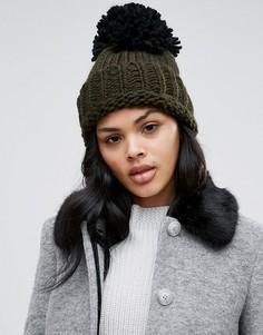 Большая шапка-бини Helene Berman - Зеленый