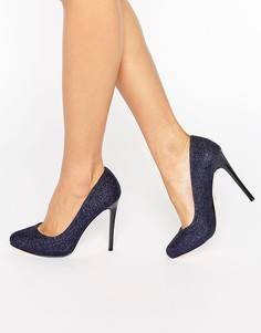 Блестящие туфли на платформе Faith Candy - Темно-синий
