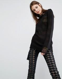 Двусторонний свитер Tripp NYC - Черный