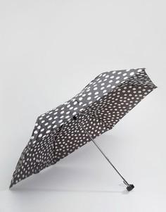 Темно-серый зонт в горошек Totes - Черный