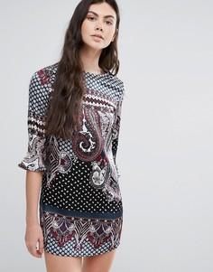 Цельнокройное платье с принтом пейсли Madam Rage - Мульти