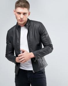 Черная куртка из искусственной кожи Lindbergh - Черный