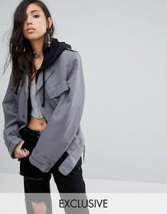 Винтажная куртка в стиле милитари Milk It - Серый