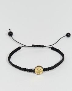 Черный плетеный браслет Lovebullets Bond - Черный
