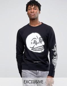 Черно-белый свитер Cheap Monday - Черный