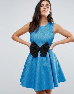 Платье с бантом Madame Rage - Синий