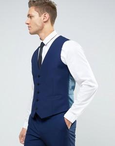 Темно-синий жилет слим Burton Menswear - Темно-синий