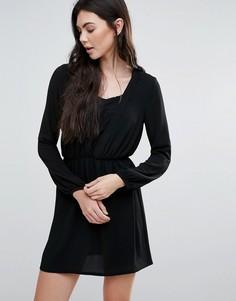 Платье с кружевной вставкой Madam Rage - Черный