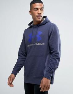 Темно-синее худи с логотипом Under Armour 1280762-410 - Темно-синий