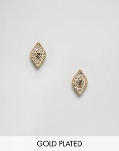 Позолоченные серьги в виде глаз Pilgrim - Золотой