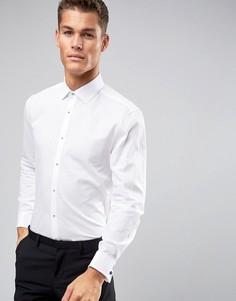 Фактурная рубашка классического кроя Burton Menswear - Белый