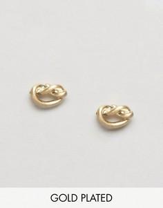 Серьги-гвоздики в виде узлов Pilgrim - Золотой