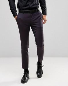Жаккардовые брюки скинни Burton Menswear - Фиолетовый