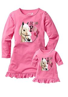 Комплект: ночная сорочка + ночная сорочка для куклы