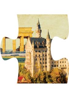 """Магнит-пазл """"Германия - Замок Нойшванштайн"""""""