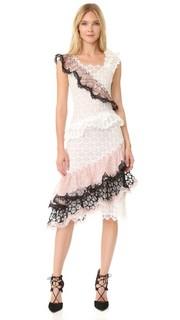 Оборчатое кружевное платье Rodarte