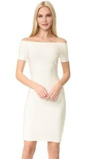 Платье Carmen с вырезом «лодочкой» Herve Leger