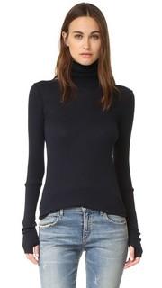Кашемировый свитер с манжетами и воротником под горло Enza Costa