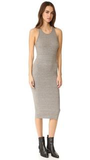 Платье-футляр в рубчик средней длины без рукавов Enza Costa