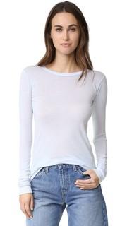 Эффектная футболка с округлым вырезом и длинными рукавами Enza Costa
