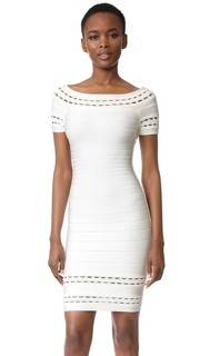 Marija Boat Neck Dress Herve Leger