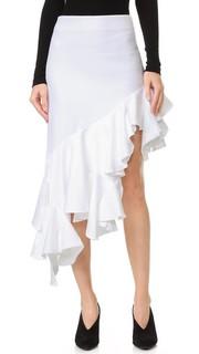 Асимметричная юбка с оборкой Jacquemus