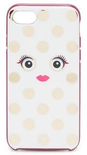 Каркасный чехол для iPhone 7 Monster с рисунком в горошек Kate Spade New York