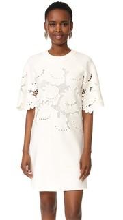 Кружевное свободное платье с вышивкой Victoria Victoria Beckham