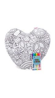 Подушка Color Me в форме сердца Gift Boutique