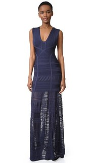 Miriam Sleeveless Gown Herve Leger