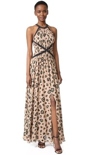 Marvella Contrast Maxi Dress Lagence