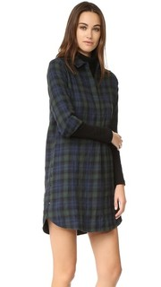 Plaid Flannel Side Button Dress Madewell