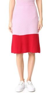Однотонная текстурированная юбка Novis